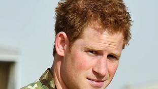 Prince Harry at Camp Bastion, Afghanistan