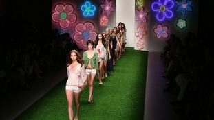 Flower power on the catwalk at Jasper Conran's show