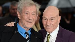 Sir Ian McKellen and Patrick Stewart