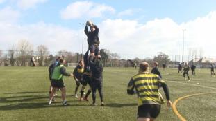 Cornish Pirates training ahead of the big game.