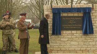 Prince Philip opens the barracks