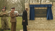 Prince Philip opens the barracks