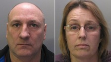 Michael and Lara Chase who have been jailed for a total of 27 years