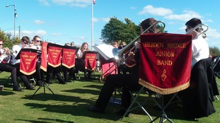 In happier times: Hebden Bridge Junior Band