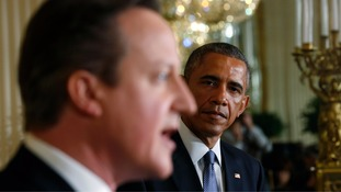 "Barack Obama has blamed David Cameron in part for the ""mess"" in Libya"