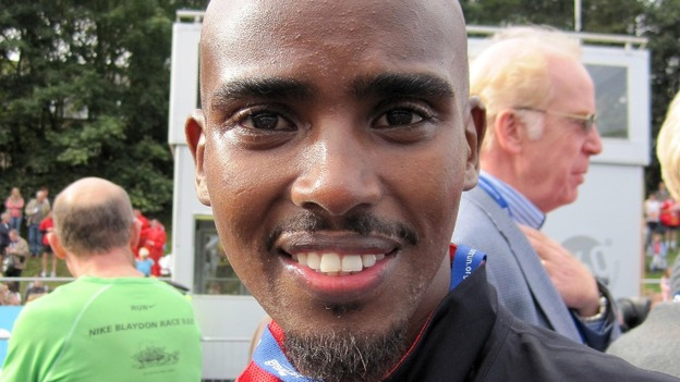 Double Olympic gold medallist Mo Farah pictured today.