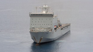 RFA Lyme Bay wins top award for life-saving mission