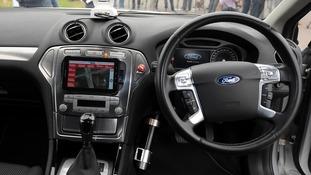 Interior of a driverless car