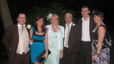 Chris McManus with his family