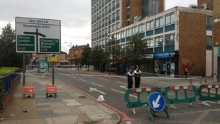 Spot where 14-year-old was stabbed in Lee in south-east London.