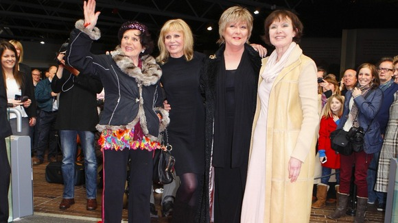 Former Bond girls Eunice Gayson, Britt Ekland, Jenny Hanley and Madeline Smith