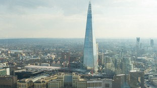 Shard base jumper shocks onlookers in London