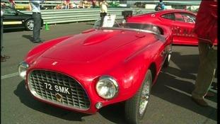 A classic Ferrari at Silverstone