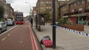 New Cross Road crime scene.
