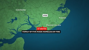 The fire was at Rochford Road in St Osyth, near Clacton.