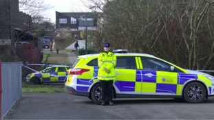 Police on the scene of the attack in Harlow.