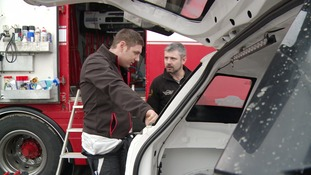 Connor McCloskey and Derek McGeehan having a debrief