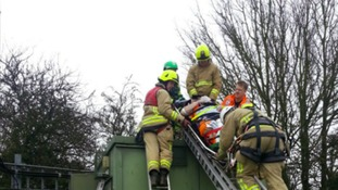 Man falls 20m from telephone mast in Bedfordshire