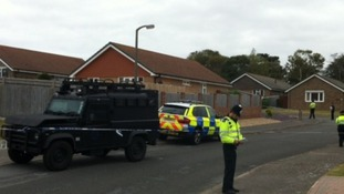 Police cordoned off the area today in Seaford.