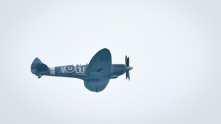 A Spitfire in flight