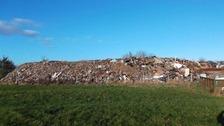 Illegal waste site