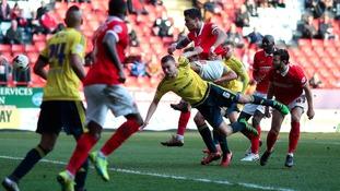 Charlton Athletic's Jorge Teixeria scores his sides first goal
