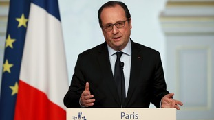 Mr Hollande said that France would track down those responsible
