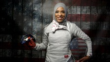 Fencer Ibtihaj Muhammad was told to remove her headscarf at the SXSW festival