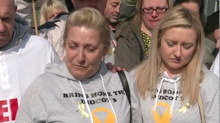 Ken Cresswell's wife Gail and daughter Sadie spoke outside the site