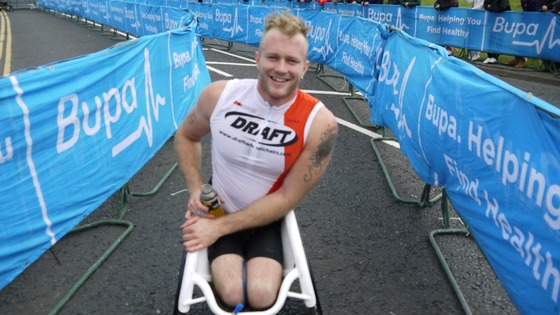 Josh Cassidy wins the Men's Wheelchair race