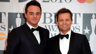 Ant and Dec at this year's Brit Awards