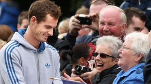 Andy Murray parades through his home town Dunblane.