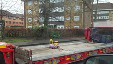 Toy truck towed