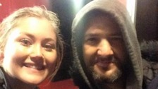 Nicole was helped by Mark, who is homeless, after she missed her train home and was left stranded