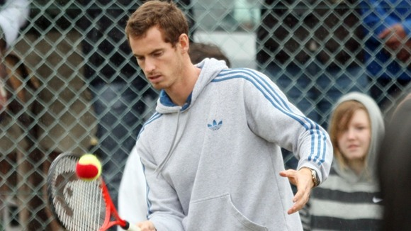 Andy Murray plays at his old club in Dunblane,