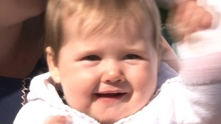 Amelie contracted meningitis when she was five weeks old.