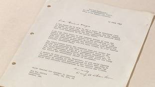 Letter from Eisenhower acknowledges work of Bletchley Park cryptologists