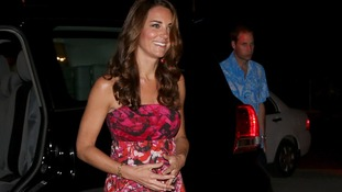 The Duchess of Cambridge in traditional Island clothing