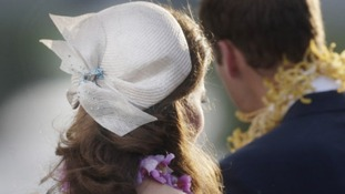 The hat worn by the Duchess of Cambridge