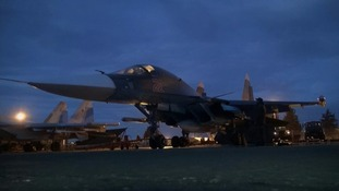 The first wave of Russian planes and fighter jets have left Syrian air bases amid the resumption of peace talks in Geneva.