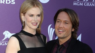 Country star Keith Urban with his wife, the actress Nicole Kidman