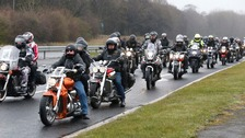 A ride of honour was held for Didcot victim Mick Collings.