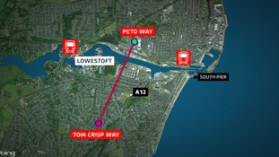The bridge would link Peto Way in the north and Tom Crisp Way in the south.