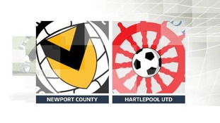Newport County v Hartlepool Utd
