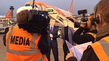 ITV News Anglia marked 25 years of Stansted's iconic terminal with a special programme live from the airport.