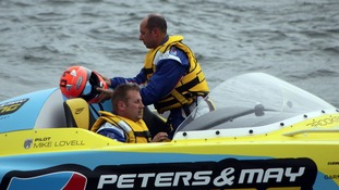Powerboat driver dies in crash