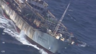Argentinian navy sinks Chinese fishing boat after territorial waters dispute
