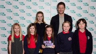 Actors Morfydd Clark and James Norton with the winning filmmakers behind 'Political Animals'.