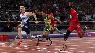 Great Britain's Jonnie Peacock won gold at the 2012 Paralympics.