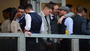 Footballers banned from Cheltenham Festival after 'urinating into beer glass'